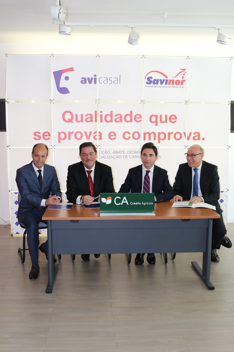 AVICASAL/SAVINOR e Crédito Agrícola assinam acordo