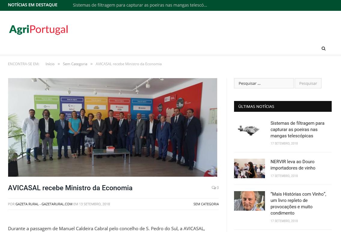Avicasal recebe Ministro da Economia