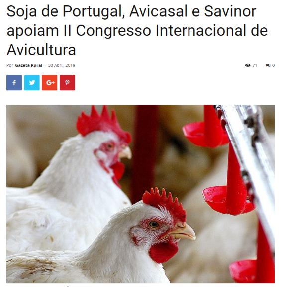 SOJA DE PORTUGAL, AVICASAL e SAVINOR apoiam II Con
